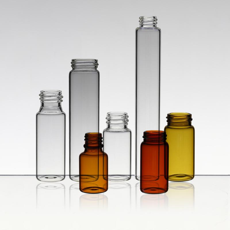 Threaded bottle reagent glass bottle